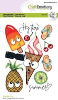 CraftEmotions clearstamps A6 - Summer Fun Carla Creaties