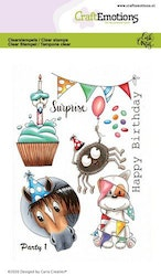 CraftEmotions clearstamps A6 - Party 1