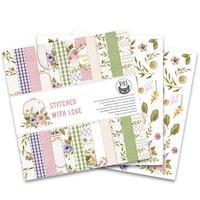 Piatek13 - Paper pad Stitched with love, 12x12