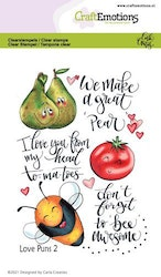 CraftEmotions clearstamps A6 - Love Puns 2