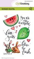 CraftEmotions clearstamps A6 - Love Puns 3