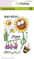 CraftEmotions clearstamps A6 - Bugs & flowers 3