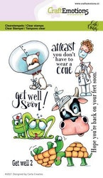 CraftEmotions clearstamps A6 - Get well 2