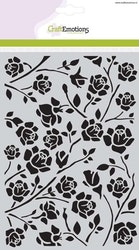 CraftEmotions Mask stencil - Botanical roses A5
