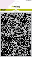 CraftEmotions Mask stencil - flower mix A5