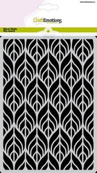 CraftEmotions Mask stencil - leaves Art Deco A5