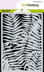 CraftEmotions Mask stencil background - Palm leaves A6