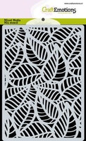 CraftEmotions Mask stencil background - Skeleton leaves A6