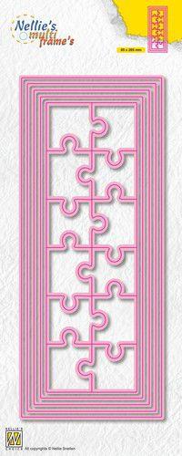 Nellies Choice Multi Frame Die - Slimline puzzle