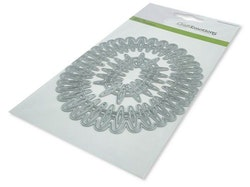 CraftEmotions Die - frame long oval Cristal shine Card