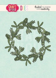 Craft&You Cutting Die - Mixed Wreath
