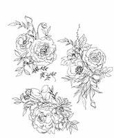 """Tim Holtz Cling Stamp """"Floral Outlines"""""""