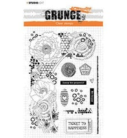 """tudio Light Clearstamp """"Elements Grunge Collection"""" STAMP42"""