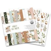 Piatek13 - Paper pad Forest tea party, 12x12''