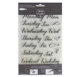 Kelly Creates - Stamps days week x21