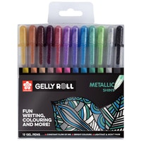 Sakura Gelly roll gel pen  - Metallic shiny 12pieces