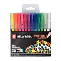 Sakura - Gelly roll gel pen Moonlight fluorescent 12pieces