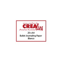 Crealies - Bullet journal paper blanco 20pcs