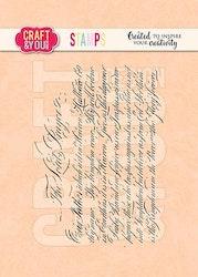 "CRAFT & YOU CLEARSTAMP ""Vintage Script"""