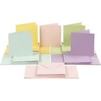 Pastellfärgade Kort Kuvert 15x15cm - 50 pack