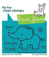Lawn Fawn Clear Stamps - Elphie Selfie Flip-Flop