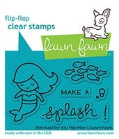 Lawn Fawn Clear Stamps - Mermaid For You Flip-Flop