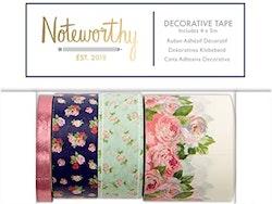 Washitape - Noteworthy Graphic Florals Decorative Tape