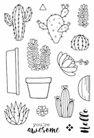 Jane's Doodles - Cactus Clear Stamps
