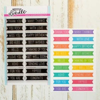 Heffy Doodle - Bold Banner Sentiments Clear Stamps