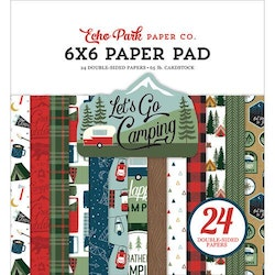 Echo Park - Let's Go Camping 6x6 Inch Paper Pad