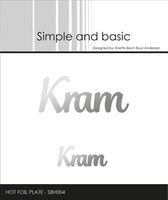 "Hot Foil Plate ""Kram"""