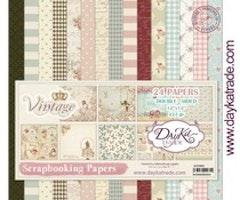 DayKa Trade - Vintage 12x12 Inch Paper Pack