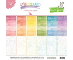 Lawn Fawn - Watercolor Wishes Rainbow 12x12 Inch ...