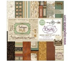 DayKa Trade - Antique Style 12x12 Inch Paper Pack