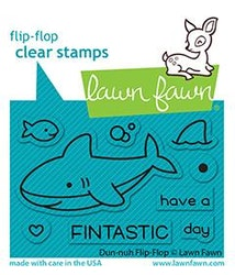 Lawn Fawn Clear Stamps - Duh-nuh Flip-Flop