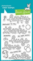 Lawn Fawn Clear Stamps - Scripty Bubble Sentiments