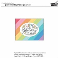 Lawn Fawn Clear Stamps - Giant Birthday Messages