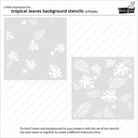 Lawn Fawn Stencils - Tropical Leaves Background (2pcs)