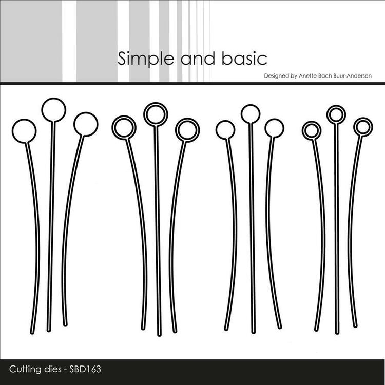 """Simple and Basic die - Decorative Dot Branches"""""""