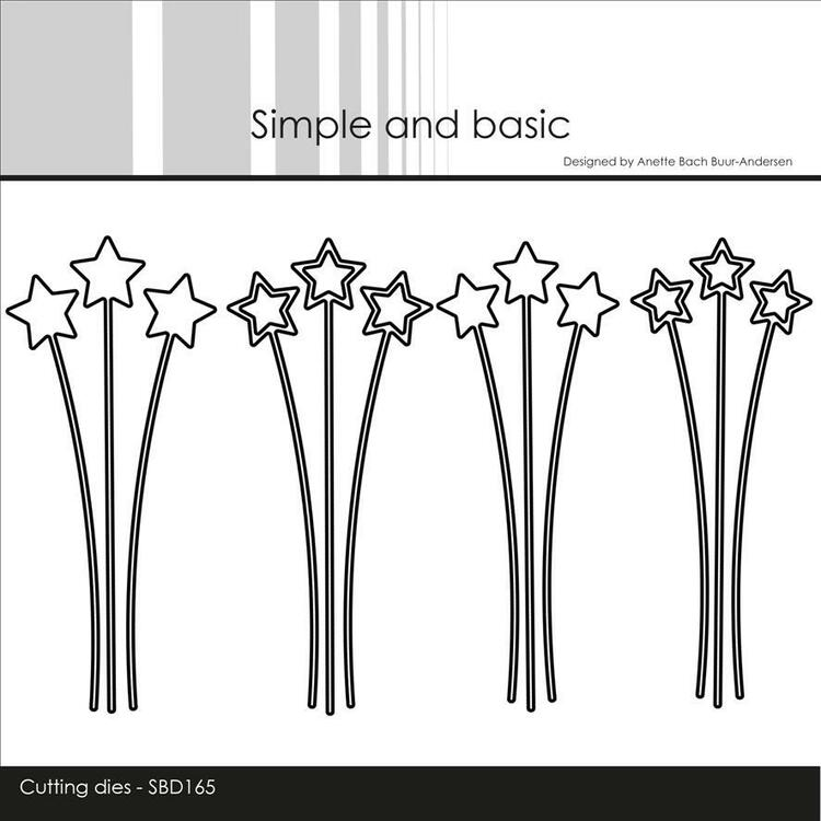 Simple and Basic die - Decorative Star Branches