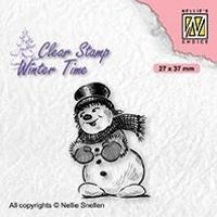 """Nellie Snellen Clearstamp """"Snowman with tophat"""""""
