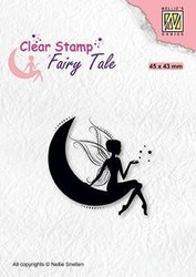 """NS Clearstamp """"Elf on moon"""""""
