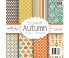 Polkadoodles 6x6 inch Paper Pack - In love with Autumn