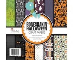Polkadoodles 6x6 inch Paper Pack - Boneshakin Halloween