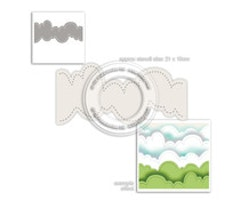 Polkadoodles - Cloud Landscape Stencil