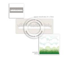 Polkadoodles Stencil - Grass Lawn
