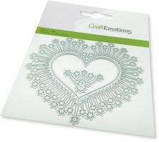 CraftEmotions Die - border heart magic stars Card 11x9cm