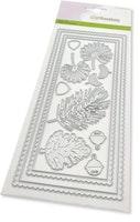 CraftEmotions Die - Slimline scalop - Xmas floristics ...