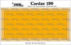 Crealies Cardzz no 190 Slimline J CLCZ190