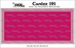 Crealies Cardzz no 191 Slimline K CLCZ191